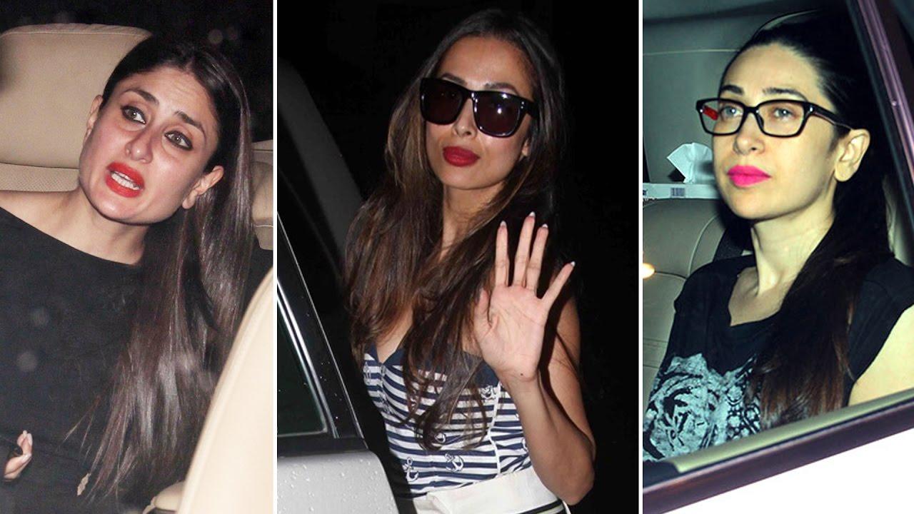 Kareena, Karishma and Malaika spotted at Karan Johar's ...