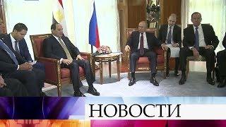 Развитие отношений России и Египта обсуждают в Сочи Владимир Путин и Абдель Фаттах ас-Сиси.
