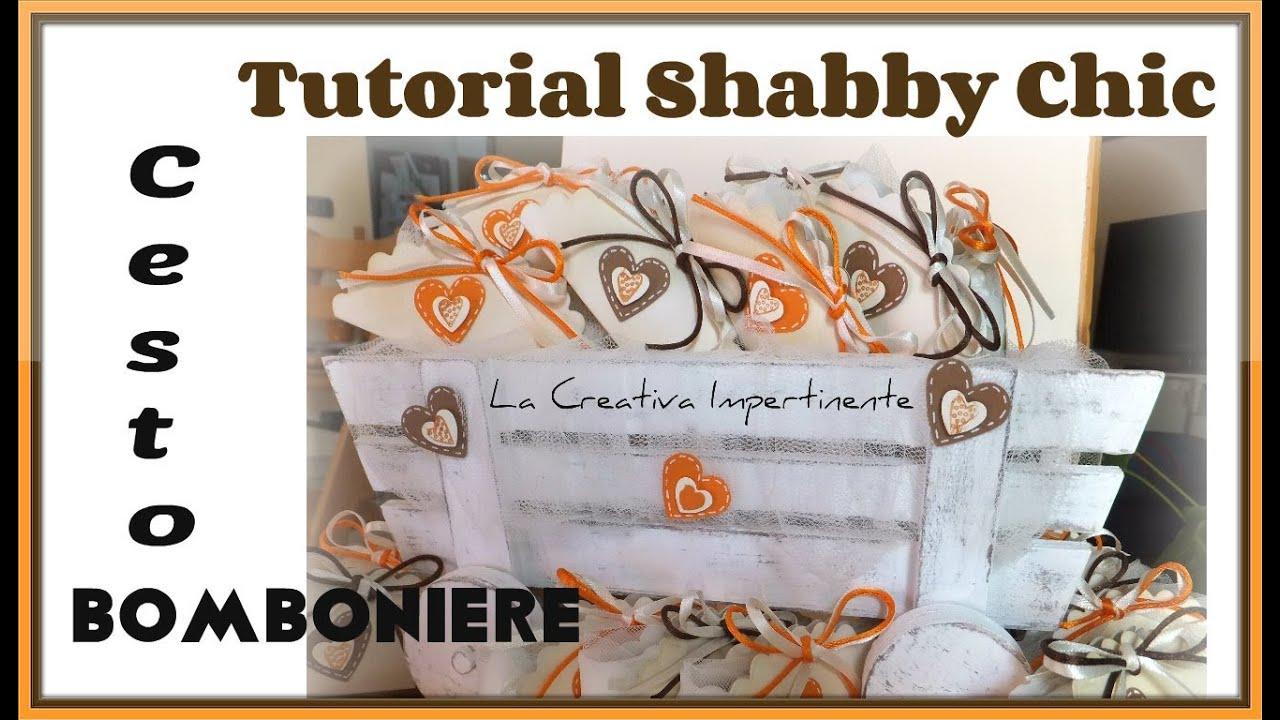 spesso Tutorial Cesto Carretto per Bomboniere in stile Shabby Chic - DIY  XM27