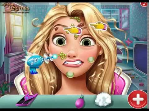 NEW мультик онлайн для девочек—Беременные Рапунцель и Барби отдыхают—Игры для детей