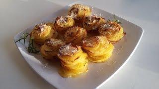 Картофель с пармезаном и тимьяном , красивый праздничный гарнир
