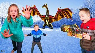 How to Train Your Dragon and Find Gold Treasure in the Hidden World In Real Life!