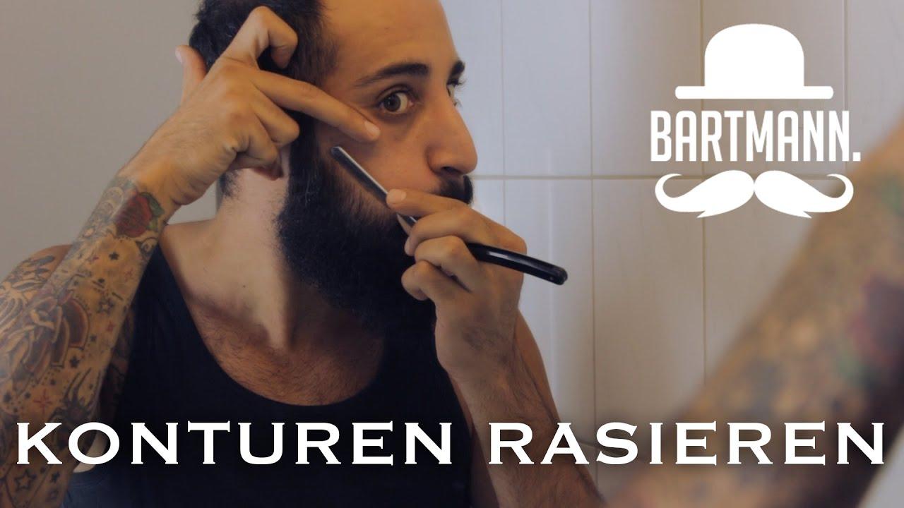 konturen rasieren trimmen how to by bartmann youtube. Black Bedroom Furniture Sets. Home Design Ideas