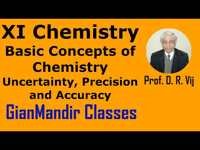 XI Chemistry - Uncertainity, Precision and Accuracy by Ruchi Ma'am