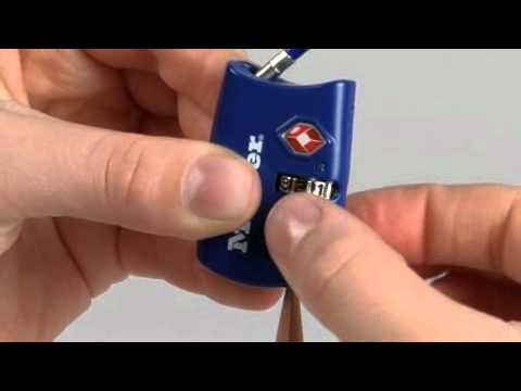 Operating the Master Lock 4688D TSA-Accepted Combination