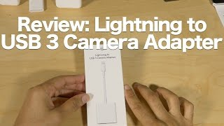 Review: Lightning to USB 3 Camera Adapter - a podcaster's best friend(Is Apple's new Lightning to USB 3 Camera Adapter worth a purchase? Does it work with the iPhone? Watch our review, and Read More on @9to5Mac: ..., 2016-03-27T15:34:20.000Z)