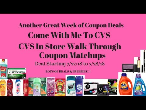 Come with me to CVS/CVS Store Walk through Coupon Matchups Deals 7/22 -7/28/18-Lots of Deals & Free!
