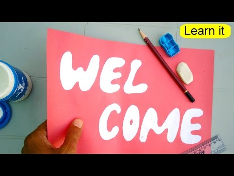 Learn to make welcome card step by step for wall decoration
