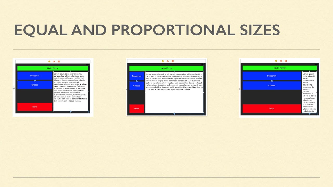 Proportional Sizes in Autolayout – Making App Pie