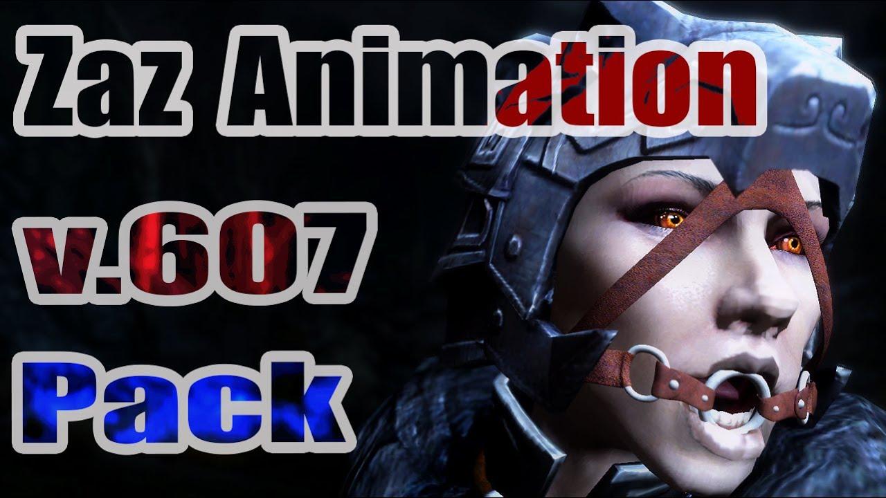 Zaz animation pack 5.52 для скайрим