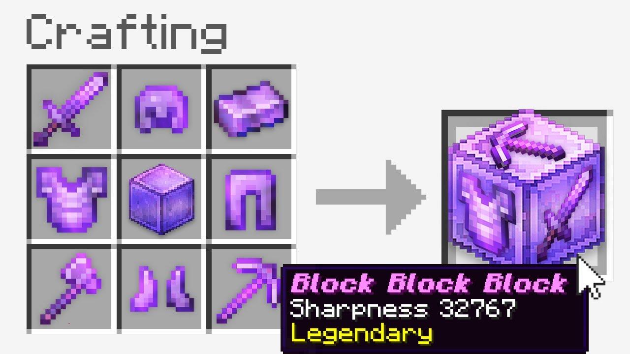 "Minecraft UHC but you can craft a ""Block Block Block"".."