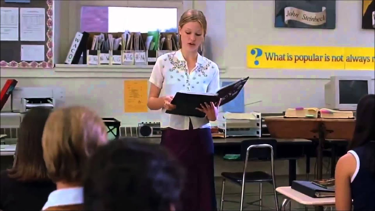 10 Things I Hate About You Full Poem Scene Hd Youtube