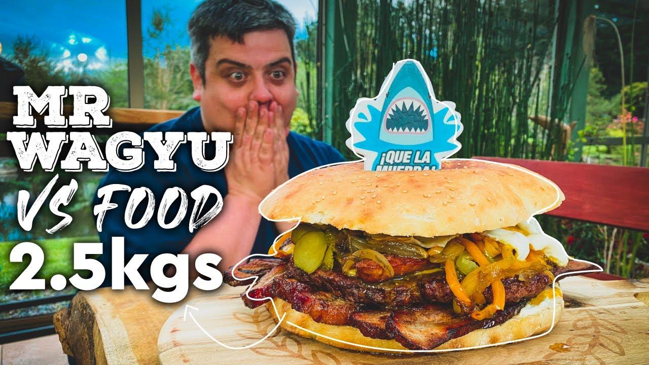 """2.5 KG """"Mr Wagyu vs Food"""" por el cumpleaños le preparamos su Hamburguesa Predilecta!"""