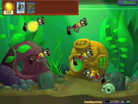 Zombiquarium - Mini games - Plants vs zombies