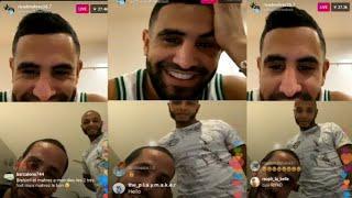 Live Instagram : Riyad mahrez et yacine ibrahimi parlent de la can 2019