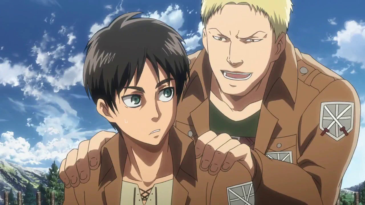 Reiner & Bertholdt Transforms into a titan | Attack On ...