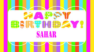 Sahar Wishes & Mensajes - Happy Birthday