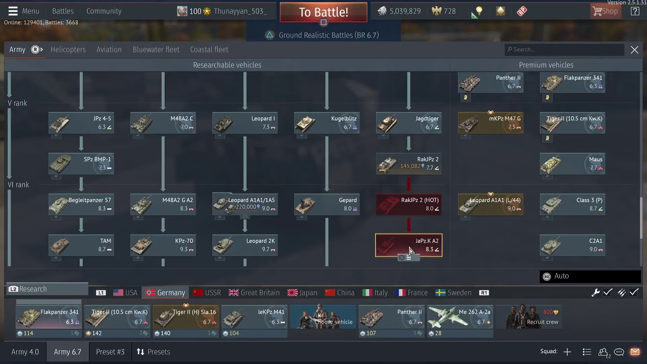 Download وار ثاندر تجربت WAR THUNDER XM8 AGS