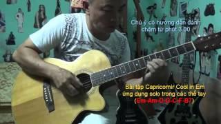 [Ghita Ứng Dụng] Học guitar Solo - Bài tập Capriconir Cool In Em