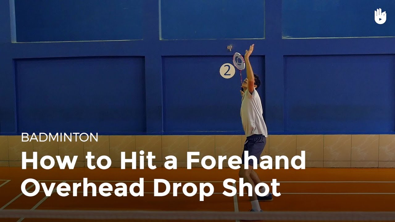 drop shot badminton