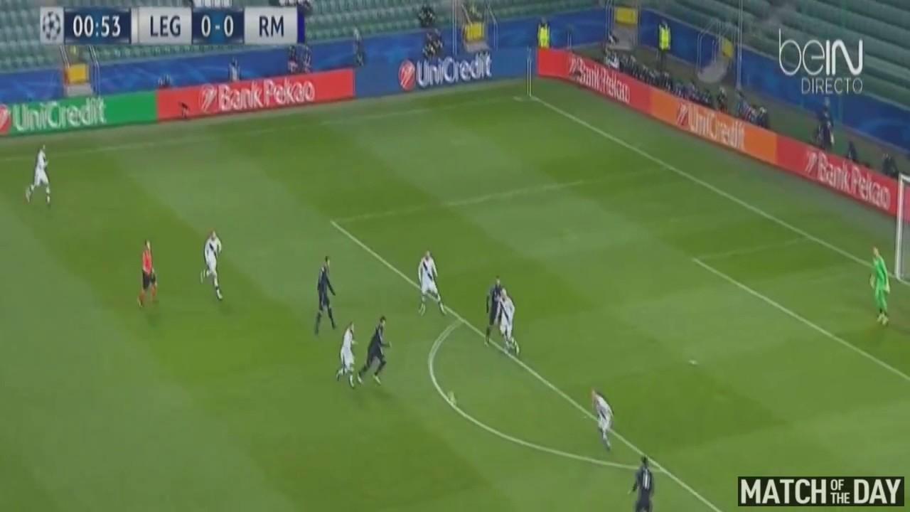 Download Goal Gareth Bale | Real Madrid 1 - 0 Legia Warsaw - UCL 02/11/2016