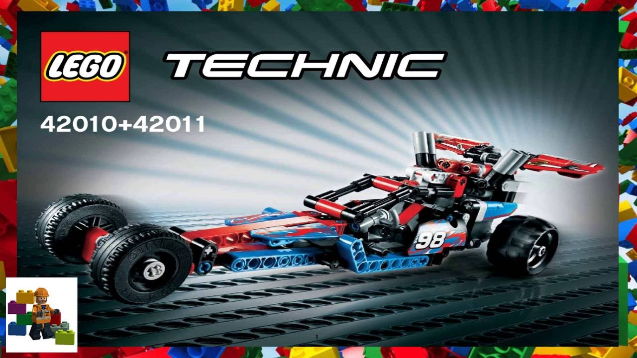 42010 + 42011 dragster pictorial review lego technic and model.