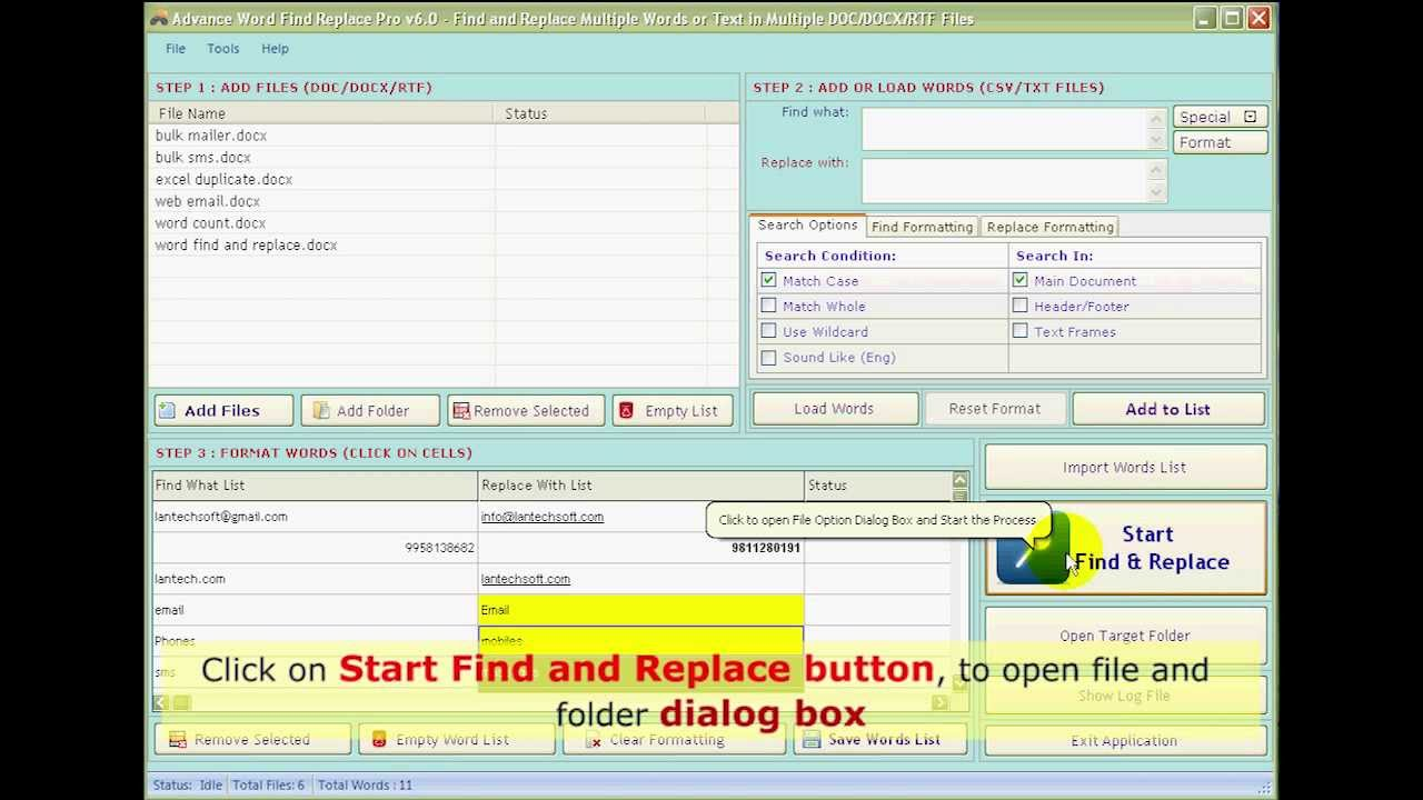 Word find and replace | Find and replace tool ...
