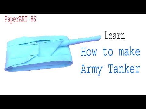 Paper tank || How to make a paper tank || Origami tank ||