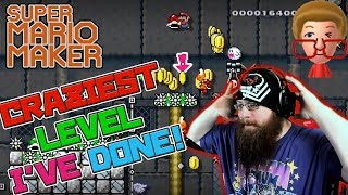 CRAZIEST LEVEL I'VE DONE - Super Mario Maker - Jarmo's Space Pig Level.  AWESOME!