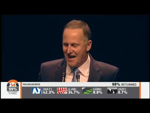 New Zealand TV3 2014 election night coverage - part 2