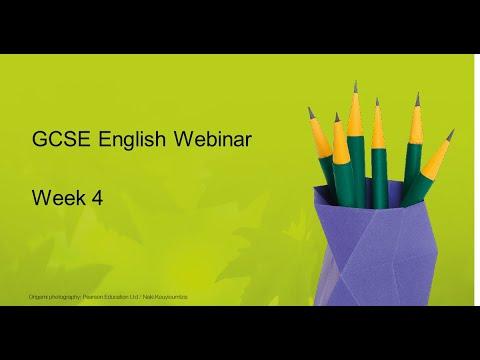 GCSE English Weekly Webinar: Week 4