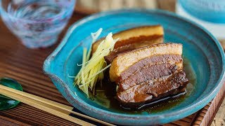 Rafute (Okinawan BRAISED PORK BELLY) ラフテーの作り方 (レシピ)