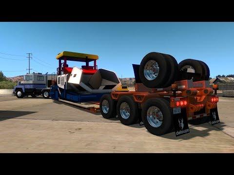 SCOT A2HD | Transportando Asfaltadora de 31 Toneladas en Nevada | Las Vegas - Pioche
