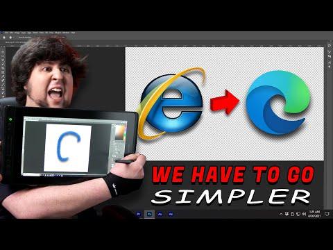 Simplifying Corporate Logos - JonTron