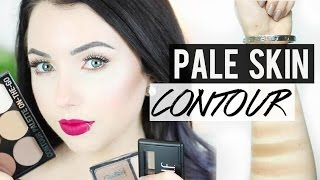 BEST CONTOUR PRODUCTS FOR PALE SKIN & Swatches!