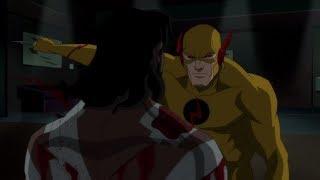 Зум избивает Капитана Бумеранга до полусмерти и убивает Бронзового Тигра