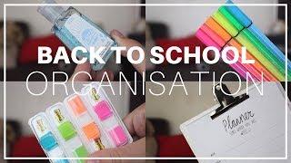 BACK TO SCHOOL • ORGANISATION, CONSEILS, ESSENTIELS