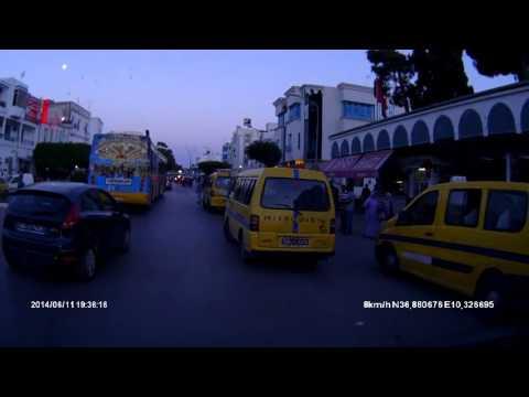 Dashcam Tunis. Parc Saada. La Corniche