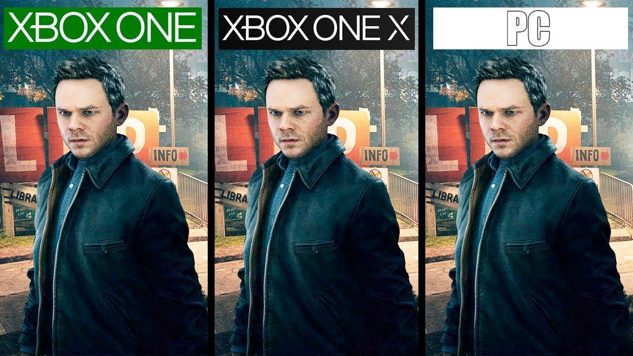 Quantum Break Xbox One X Vs PC Vs Xbox One 4K Graphics