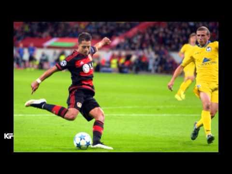 Ovación a Chicharito Hernández en el Bayer Leverkusen vs Bate • Champions League 2015