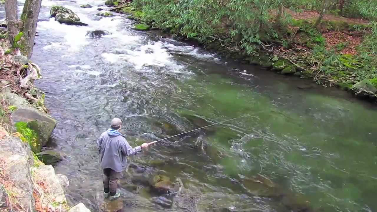 Fly fishing with tenkara in the smoky mountains youtube for Fishing in gatlinburg tn