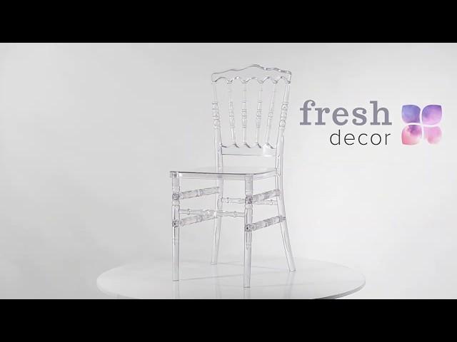 Стул из стекла Наполеон Chiavari удобный и качественный стул .Стулья для дома, ресторана и кафе.