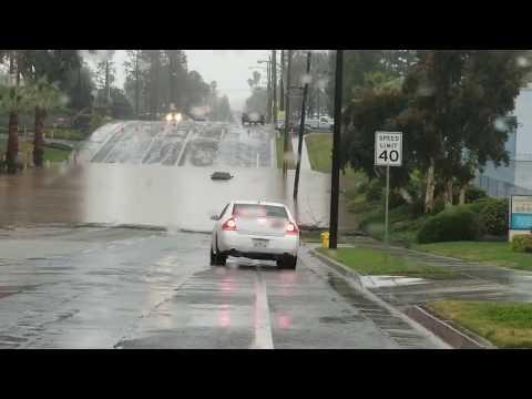 Santa Ana River Huge Flooding In Riverside California 2-14-2019