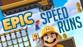 Super Mario Maker - EPIC SPEEDRUNS! - Level Showcase [Socks]