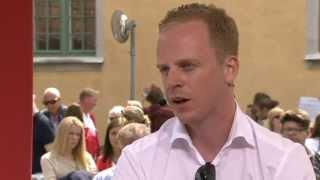 Almedalen 2013 - Gustav Kasselstrand (SD) frågas ut