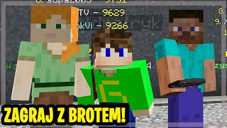 Zagraj z Brotem #2 - Peter Eter New i Tegron - Minecraft - MÓJ PIERWSZY RAZ W BED WARS!
