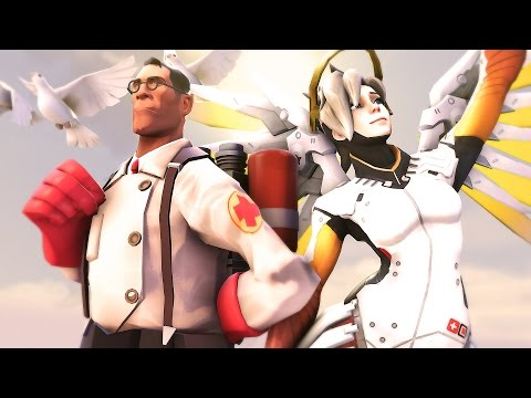 The Medic Vs Mercy! TF2 Vs Overwatch