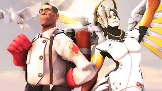 The Medic vs Mercy! TF2 vs Overwatch