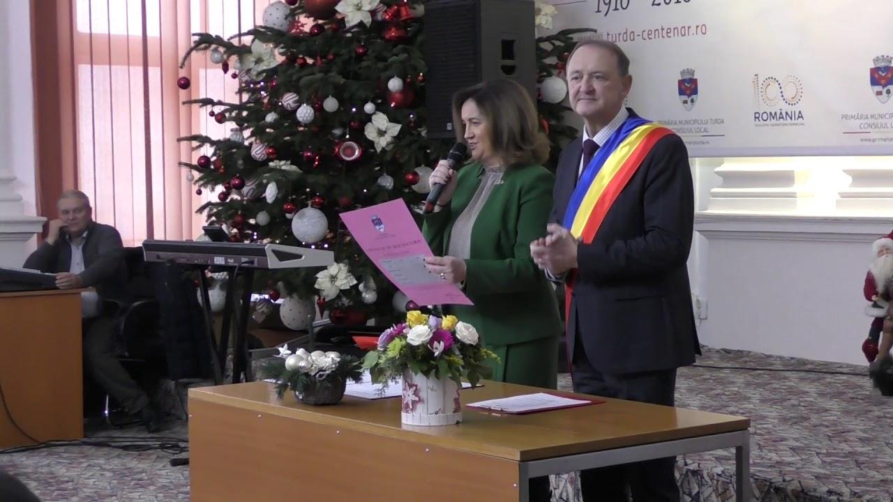 Cinci decenii de căsnicie celebrate la Primăria Turda de 27 de cupluri (11.12.2019)