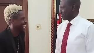 DP William Ruto makes fun of Erick Omondi's hair when they met